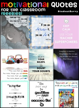 Motivational Quotes & Positive Affirmations for the Classr