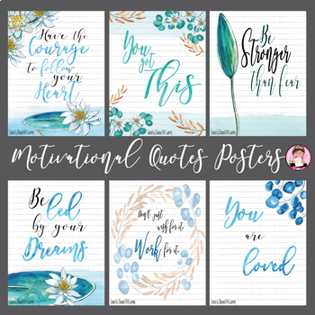 Motivational Quotes Posters Classroom Decor