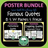Motivational Quotes Posters and Frieze B & W BUNDLE 2 Sets 100 Quotes Decor