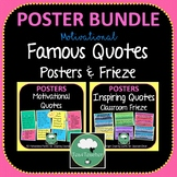 Motivational Quotes Posters and Frieze Bright BUNDLE 2 Sets 100 Quotes Decor