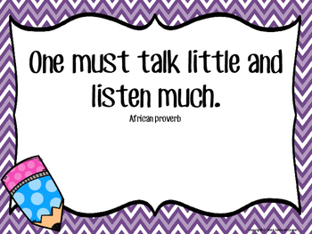 Motivational Quotes Posters for Growth Mindset Activities - Listening