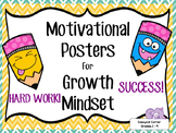 Motivational Quotes Posters for Growth Mindset Activities - Success & Work