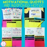 Motivational Quotes and Response Notes (Mindfulness) Kid President & More!