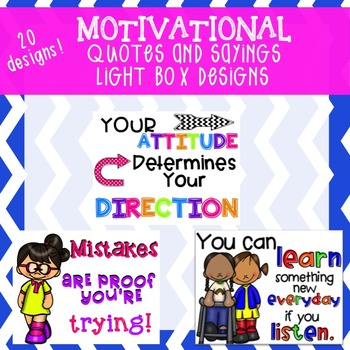 Motivational Quotes and Sayings Light Box Pack