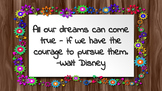 Motivational Quotes for Upper Elementary and Middle School