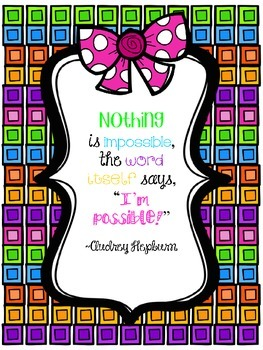 Motivational Quotes for the classroom {FREEBIE}