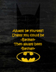 Motivational Quotes with Super Hero Outlines