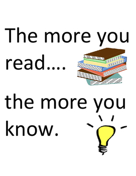Motivational Read Poster: The More You Read, The More You Know & Grow!