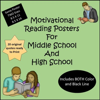 Motivational Reading Posters for Teens