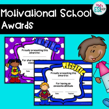 Motivational School Awards - Certificates