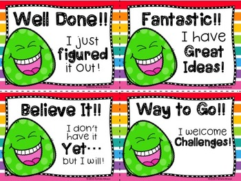Motivational Classroom Awards - Smiley Grams! (Includes Editable PPT File)