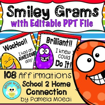Motivational Classroom Awards - Smiley Grams! (Includes Ed