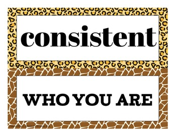 Motivational Self-Esteem Building Door & Bulletin Board - Animal Print