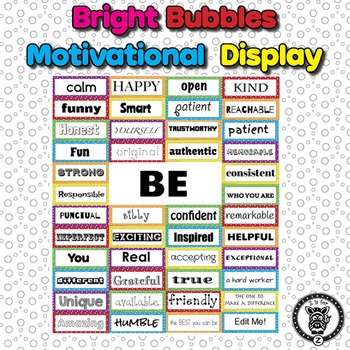 Motivational Self-Esteem Building Door & Bulletin Board -