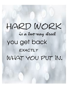 Motivational Sign- Hard work