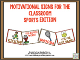 Motivational Signs Sports Theme