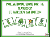 Motivational Signs St. Patrick's Day Theme