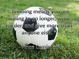 Motivational Soccer Poster