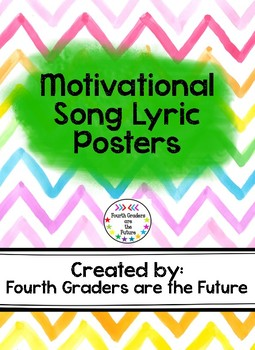 Motivational Song Lyric Posters