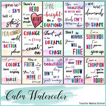 Motivational Quotes Posters { Song Lyrics in Watercolor }