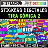 Spanish Motivational Digital Stickers Clipart - Comic 2 |