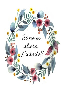 Motivational Spanish Quotes Poster Set - Floral Theme