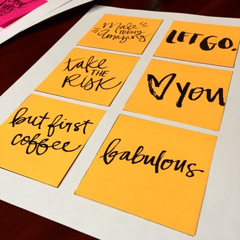 Motivational Sticky Notes Templates **Staff Morale Booster**