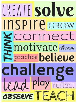 Motivational Teaching Poster (Full Color)