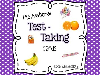 Motivational Test Taking Cards