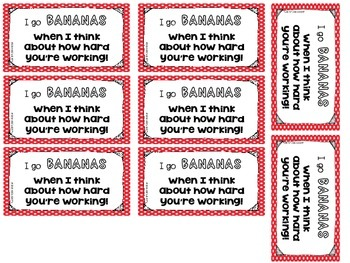 Motivational Test Taking Cards