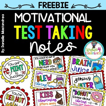 Motivational Test Taking Notes FREEBIE