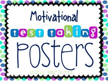 Motivational Test Taking Posters By Number Two Pencils Tpt
