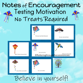 Testing Note Cards  Motivational and Editable NO TREATS REQUIRED