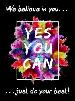 Motivational Testing Poster