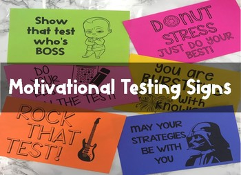 Motivational Testing Signs FREE