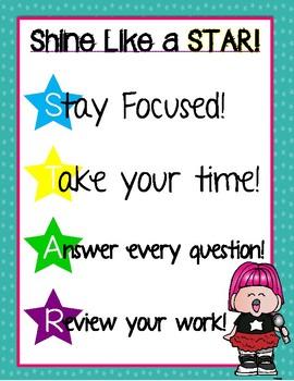 Motivational Testing Posters for Grades K-5