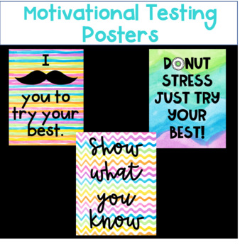 Motivational Testing Posters