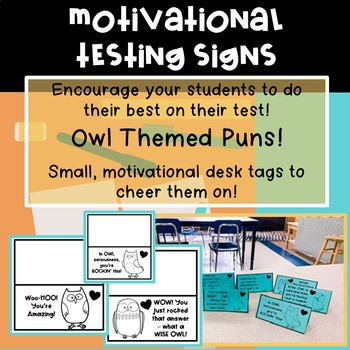 Motivational Testing Signs | Owl Theme