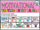 Motivational Testing Treat Labels   Color & BW