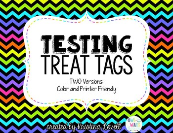 Motivational Testing Treat Tags
