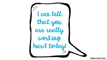 Motivational Thought Bubbles: Teaching Students to Encourage Each Other!