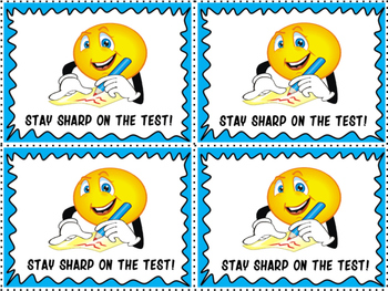 Motivational Treat Cards for State Tests- FREE