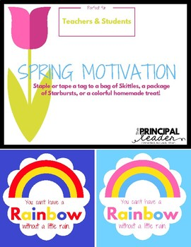 Motivational Treats-Teacher and Student Gift Tags