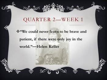 Motivational Weekly Quotes for Middle Grades ELA/Social Studies