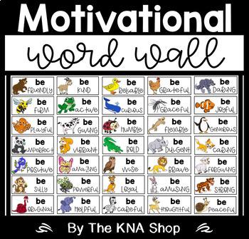 Motivational Word Wall by The KNA Shop | Teachers Pay Teachers