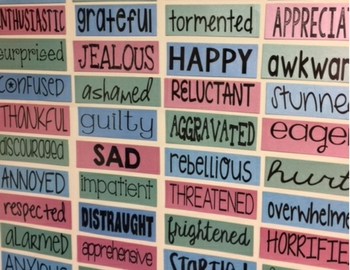 Motivational Word Wall Set 2 - Feelings...Great for Offices, Classroom