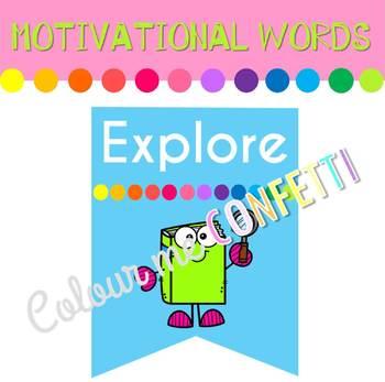 Motivational Words Banner - Colour me Confetti