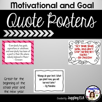 Motivational and Goal Quote Posters