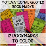 Motivational bookmarks - Coloring