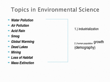 Motivations in Environmental Science: Power Point Presentation